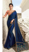 Blue & Peach Saree